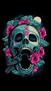 skull wallpaper wallpaperhd wiki