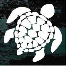 Hawaiian Sea Turtle Car Decals Stickers Decal Junky