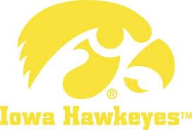 Iowa Hawkeyes With Tigerhawk Logo Vinyl Car Decal
