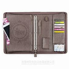 a4 a5 pu leather 3 ring binder