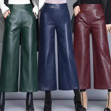 2020 faux leather pants women trousers