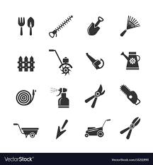 farming equipment icons vector image