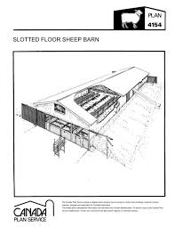 Slotted Floor Sheep Barn Leaflet Imperial Canada Plan Service