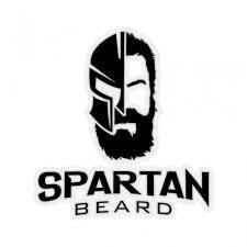 Spartan Beard Black Decal