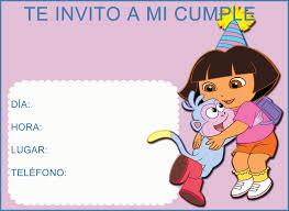 Invitaciones De Cumpleanos De Dora La Exploradora Para Descargar