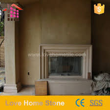 reclaimed french marble stone fireplace