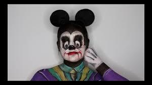 mickey mouse joker mashup face painting