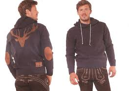 men s trachten sweater hoo