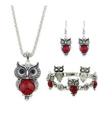 ethnic jewelry set antique silver chain