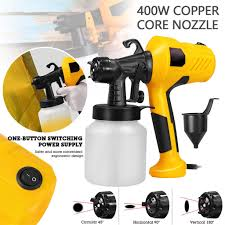 220v 400w Electric Paint Sprayer Airless House Fence Room Car Painting Spray Gun Household Convenience Spray Paint Four Nozzles Spray Guns Aliexpress