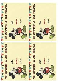Imprimibles Fiesta Mickey Mouse Telares Manualidades