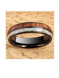 black tungsten wedding ring 8mm