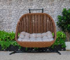 poly resin rattan patio wicker 2 seats
