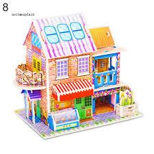 1 bộ đồ chơi xếp hình công trình 3D kích thước 21x14cm bằng giấy ...