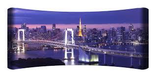 Tokyo Skyline Curved Wall Art