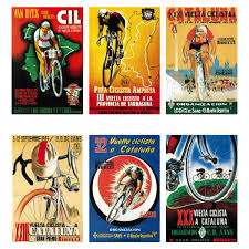 Spanish Cycling Races Wall Decal Set At Retro Planet