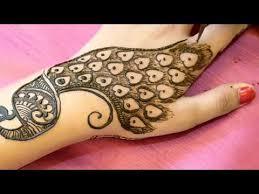 Peacock Mehndi Mehandi Design Arabic Back Hand