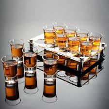 drop shot glass with cup holder liquor