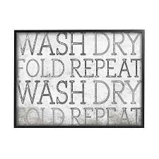 Wash Dry Fold Repeat Laundry Framed Canvas Wall Art Bed Bath Beyond