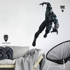 Giant Black Panther Peel Stick Wall Decals Kids Room Marvel Stickers Decor Walmart Com Walmart Com