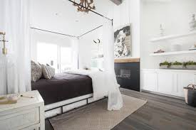 white modern cottage master bedroom