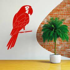 Macaw Bird Decal Window Bumper Sticker Car Decor Pet Parrot Blue Gold Scarlet