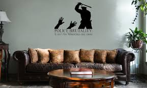 Police Brutality Minorities Funny Vinyl Wall Mural Decal Home Decor Sticker