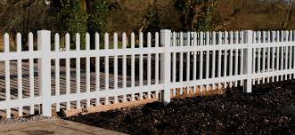 Picket Fence Panels White Plastic Garden Fencing