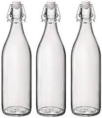 traditional vintage style glass bottles