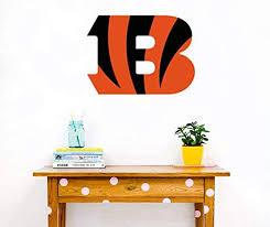 Amazon Com Cincinnati Bengals Decal Football Team Logo Mural Decor Cincinnati Bengals Sticker Home Kitchen