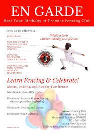 Birthday Party Premier Fencing Club