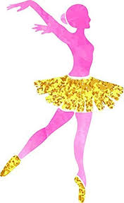 Amazon Com Pretty Pink Gold Ballerina Dancer Cartoon Silhouette Truck Car Bumper Sticker Vinyl Decal 5 Automotive