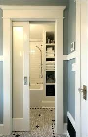 frosted pocket door