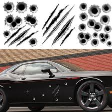 3d Car Styling Fake Bullet Holes Gun Hole Claw Funny Motorcycle Car Decals Sticker Creative Personality Vinyl Decal Accessories Stickers Wish