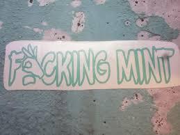Nsfw Fing Mint Vinyl Decal Etsy