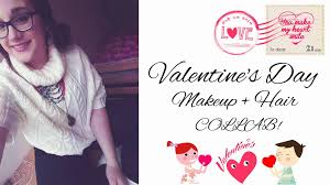 valentine s day makeup hair look