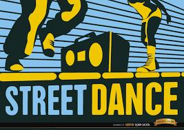 street hip hop dance wallpaper vector