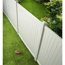 Barrette Select White Flat Top Privacy Vinyl Fence Panel Common 72 In X 6 Ft Actual 70 In X 5 64 Ft At Lowes Com