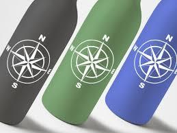 Nautical Compass Vinyl Decal Sticker Vyoletshop