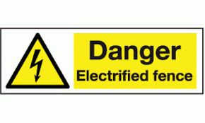Danger Electrified Fence Sign Warning Electrical Safety Signs Safety Signs And Notices