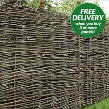 Hazel Hurdle Weave Panel Fencing Garden Fence Wooden Twigs 6ft 5ft 4ft 4ft 3ft Ebay