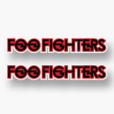 2x Foo Fighters Sticker Vinyl Decal Car Window Black Text Red Dave Grohl Window Ebay