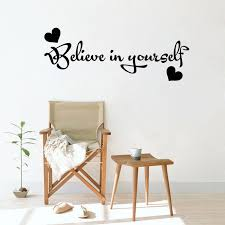 Positive Inspiring Believe In Yourself Letters Wall Sticker Girls Boys Room Decoration Vinyl Wall Decal Quote Office Z147 Wall Decals Quotes Vinyl Wall Decalsdecorative Vinyl Aliexpress