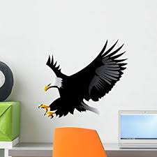 Amazon Com Wallmonkeys Eagle Wall Decal Peel And Stick Graphic Wm30020 18 In H X 18 In W Home Kitchen