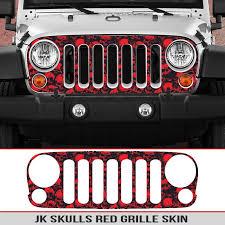 Jeep Wrangler Jk Grille Skin Skulls Seven Slat 4 4