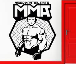 Wall Stickers Vinyl Decal Mma Ufc Cage Fighter Man Fight Cool Decor Vinyl Decal Wall Stickersticker Vinyl Aliexpress