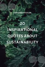 inspirational quotes about sustainability to ease your eco
