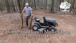 homemade lawn mower drag you