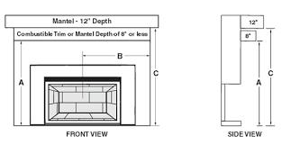 fireplace gas insert d1 25