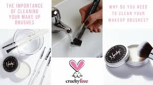 cleaning your make up brushes